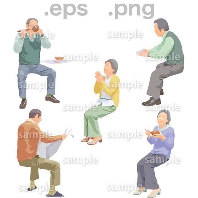 シニアイラスト (EPS , PNG )   se_179