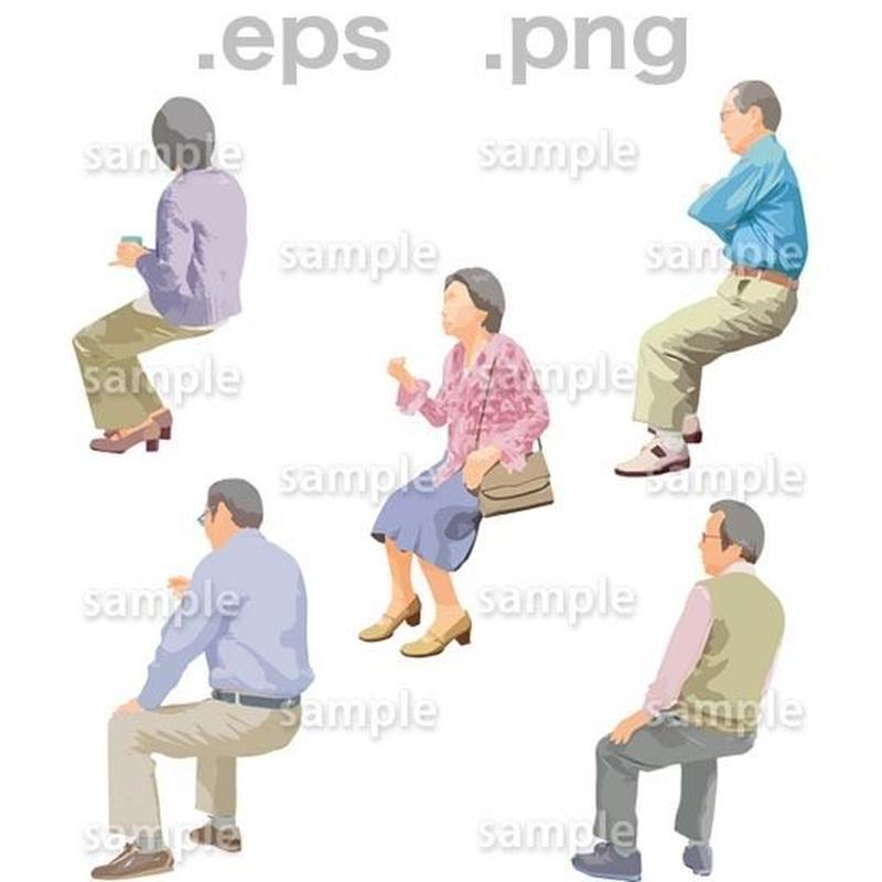 シニアイラスト (EPS , PNG )   se_178