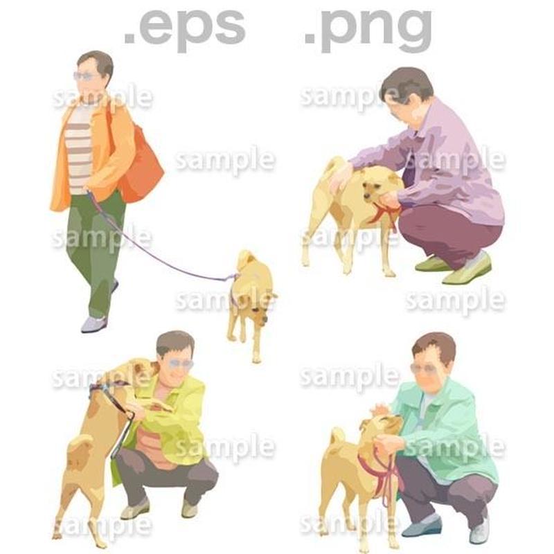 シニアイラスト (EPS , PNG )   se_072