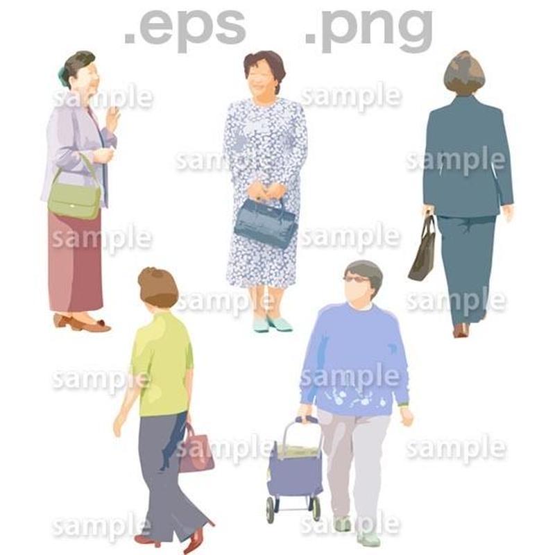 シニアイラスト (EPS , PNG )   se_075