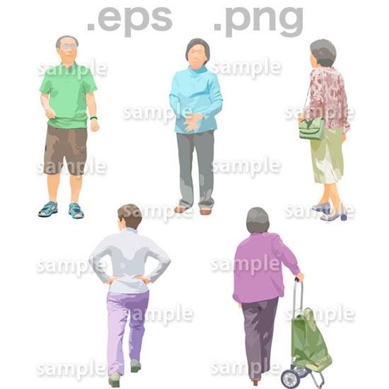 シニアイラスト (EPS , PNG )   se_133