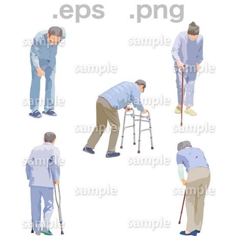 シニアイラスト (EPS , PNG )   se_243