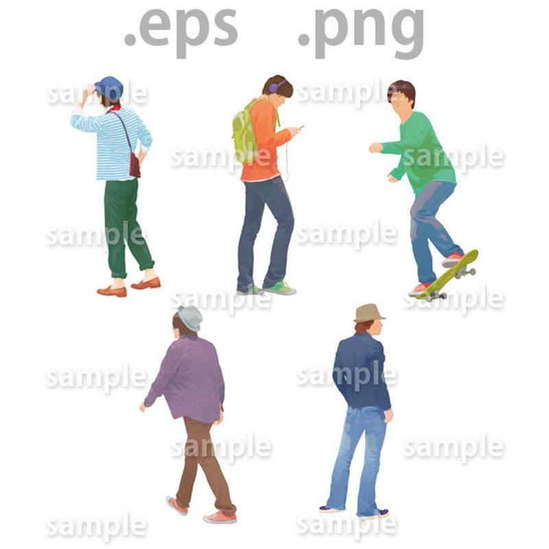 ファミリーイラスト (EPS , PNG )   fa_006