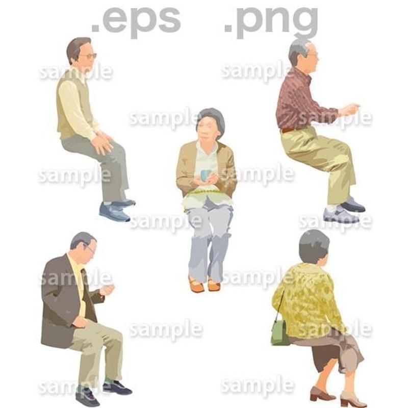 シニアイラスト (EPS , PNG )   se_176