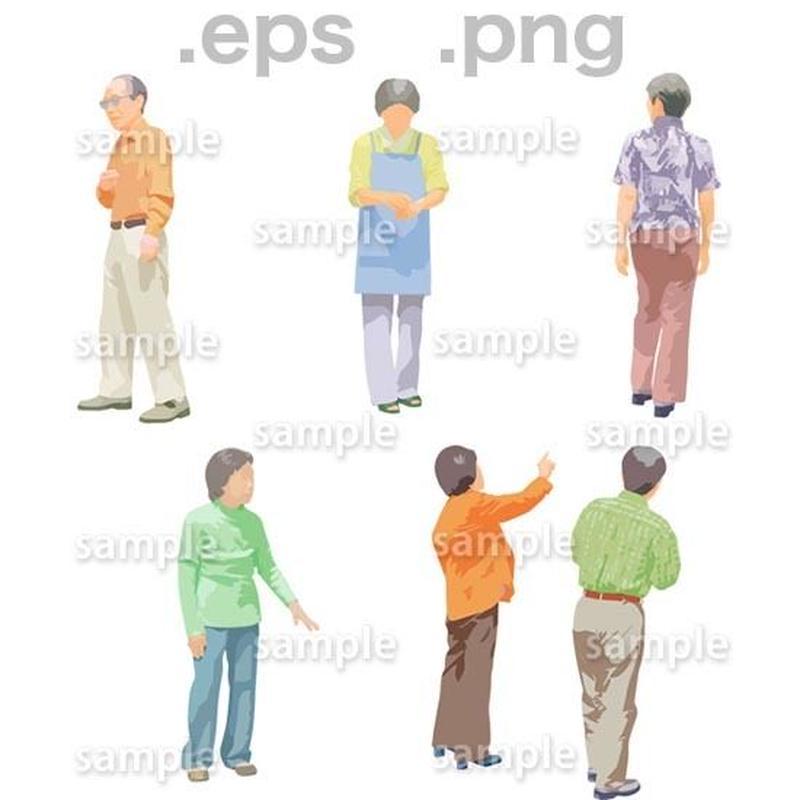 シニアイラスト (EPS , PNG )   se_123