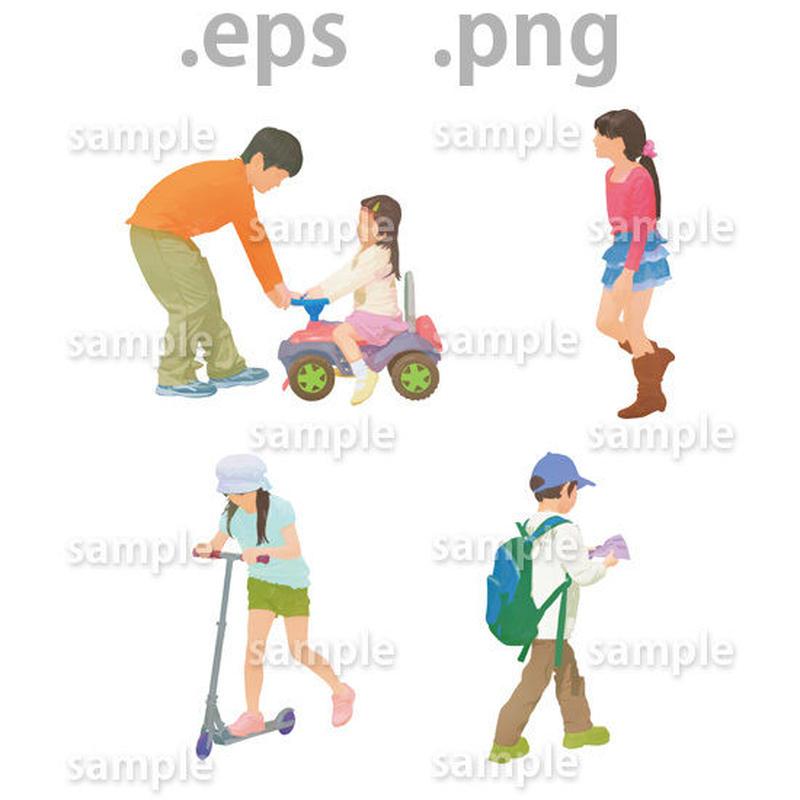 子供イラスト (EPS , PNG )   ch_008