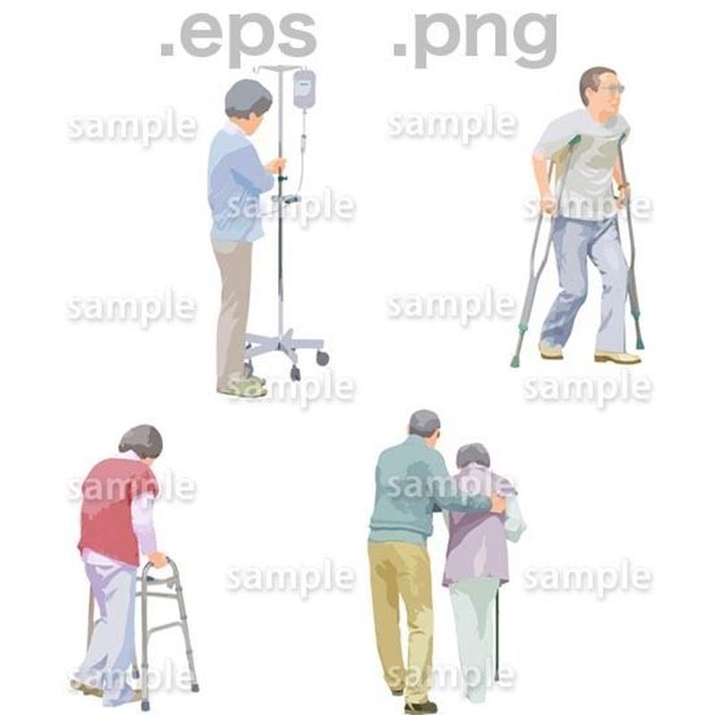 シニアイラスト (EPS , PNG )   se_238