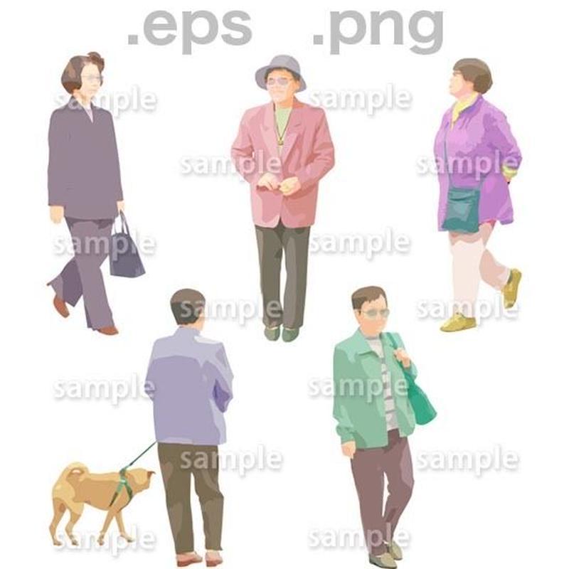 シニアイラスト (EPS , PNG )   se_060