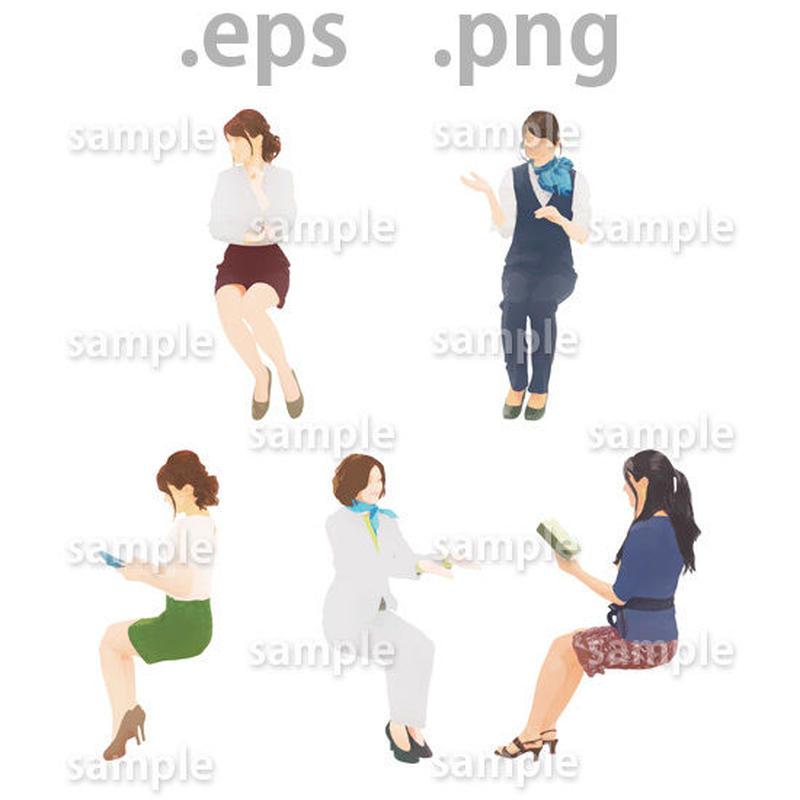ビジネス人物イラスト (EPS , PNG )   bu_022