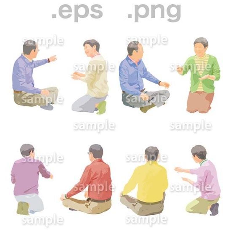 シニアイラスト (EPS , PNG )   se_165
