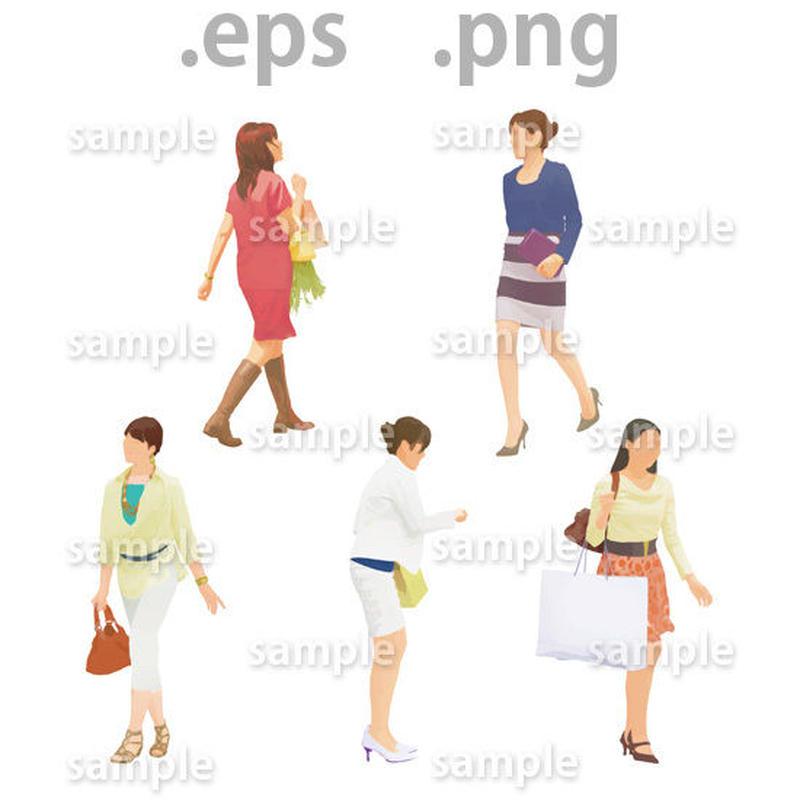 ファミリーイラスト (EPS , PNG )   fa_008