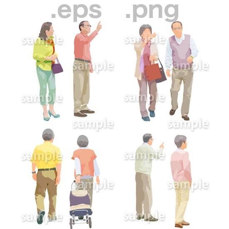 シニアイラスト (EPS , PNG )   se_111