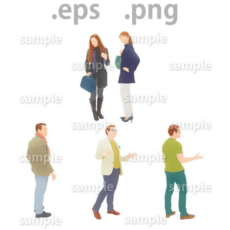 外国人イラスト (EPS , PNG )   gl_005