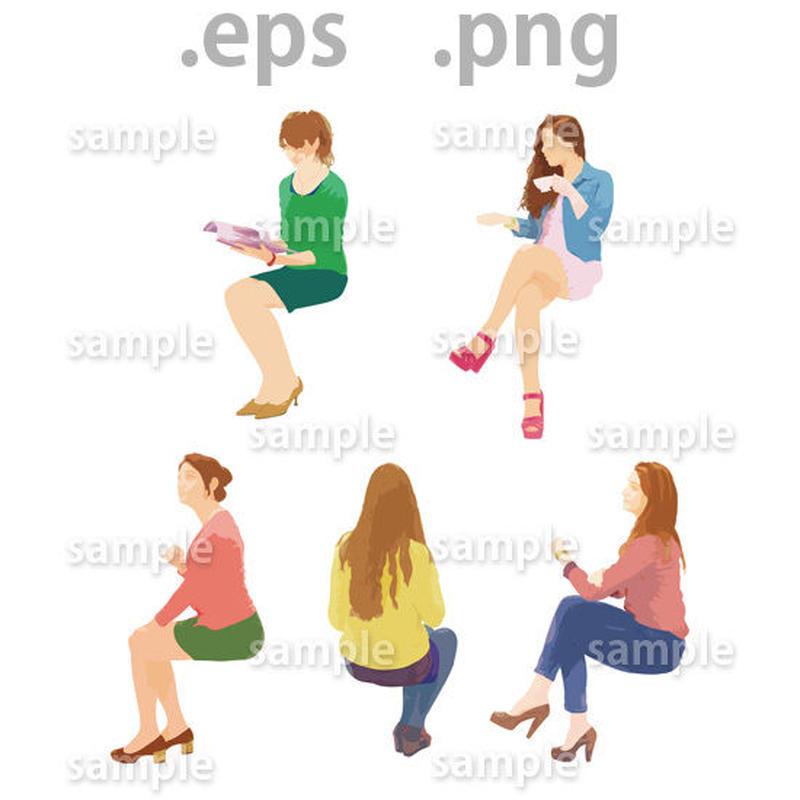 外国人イラスト (EPS , PNG )   gl_020
