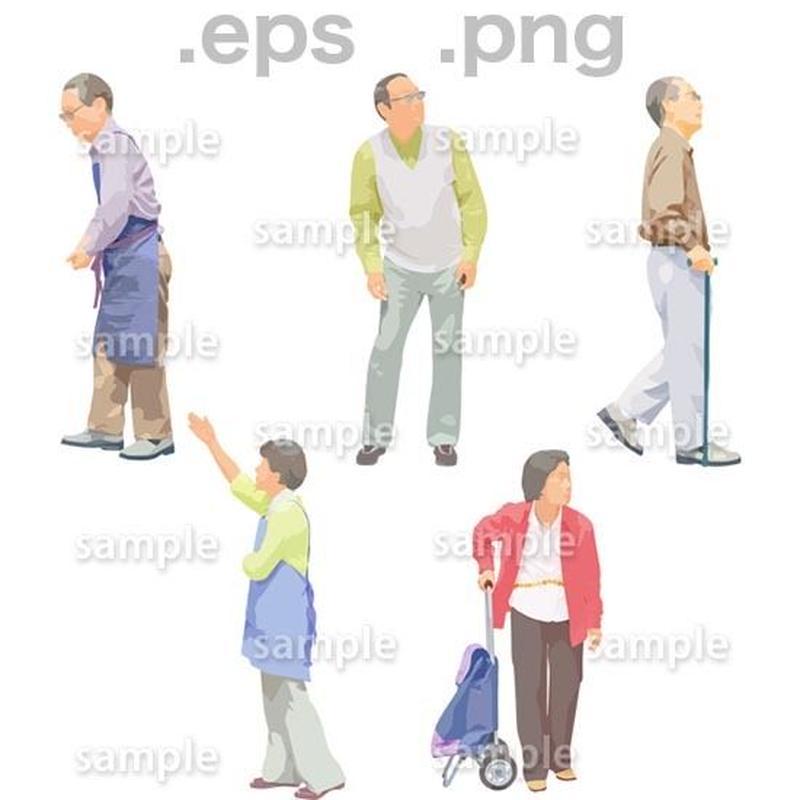 シニアイラスト (EPS , PNG )   se_145