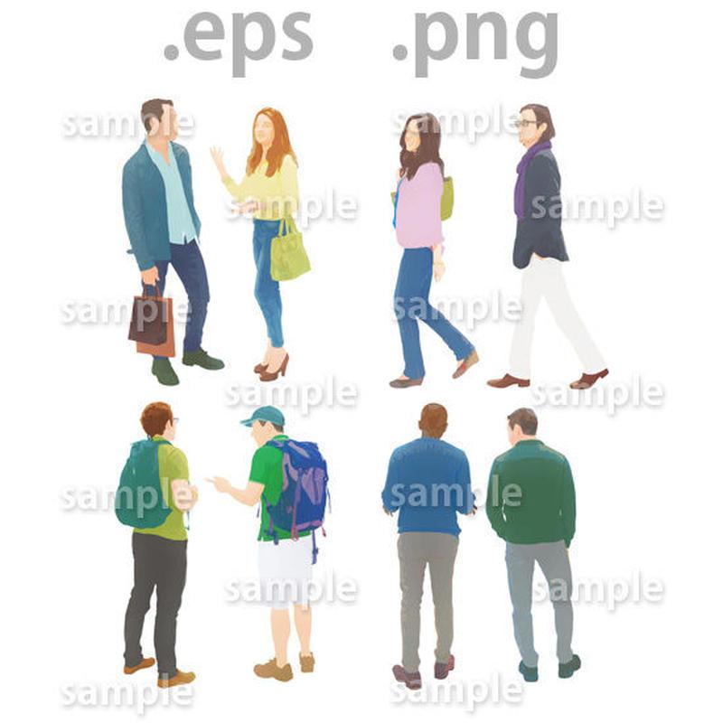 外国人イラスト (EPS , PNG )   gl_003
