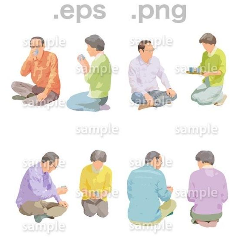 シニアイラスト (EPS , PNG )   se_164