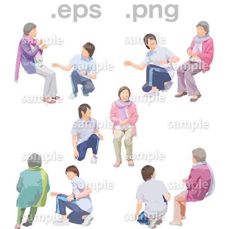 シニアイラスト (EPS , PNG )   se_248