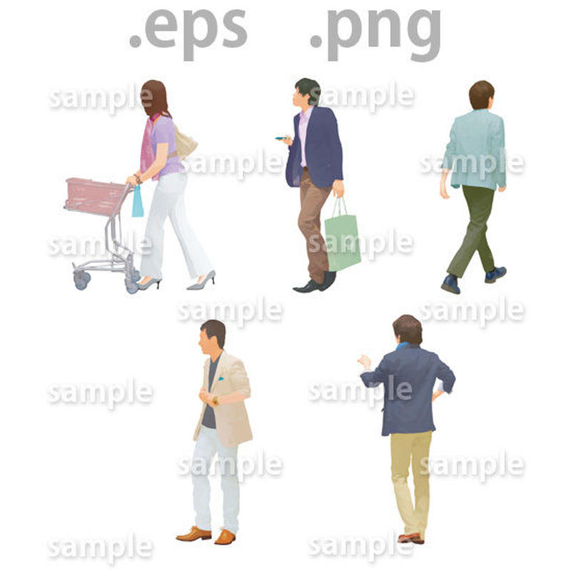 ファミリーイラスト (EPS , PNG )   fa_009