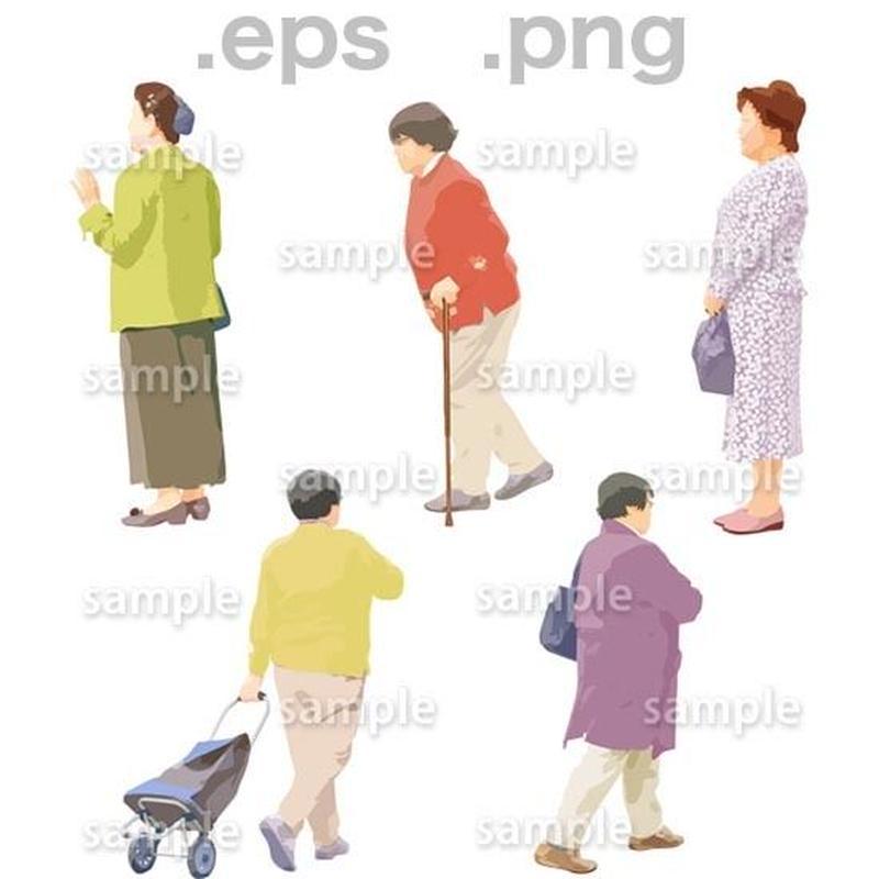 シニアイラスト (EPS , PNG )   se_076