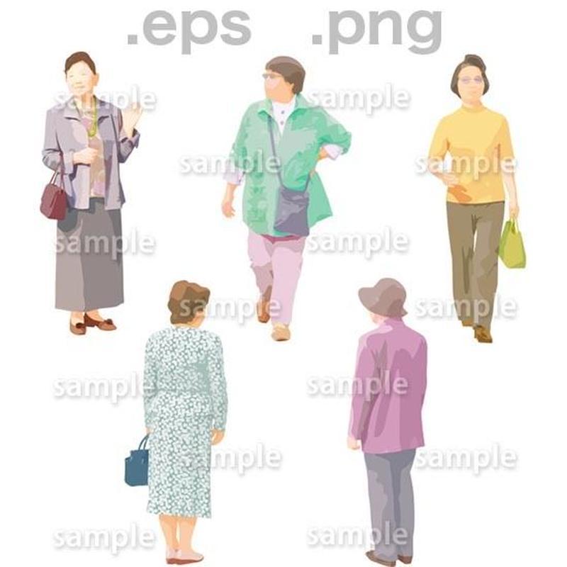 シニアイラスト (EPS , PNG )   se_062