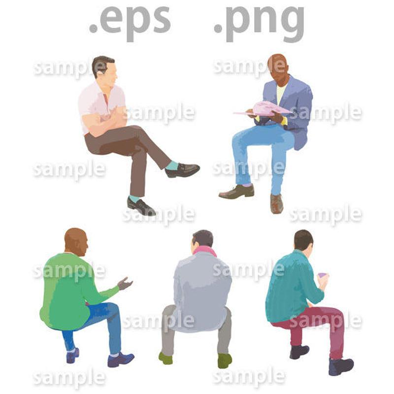 外国人イラスト (EPS , PNG )   gl_017