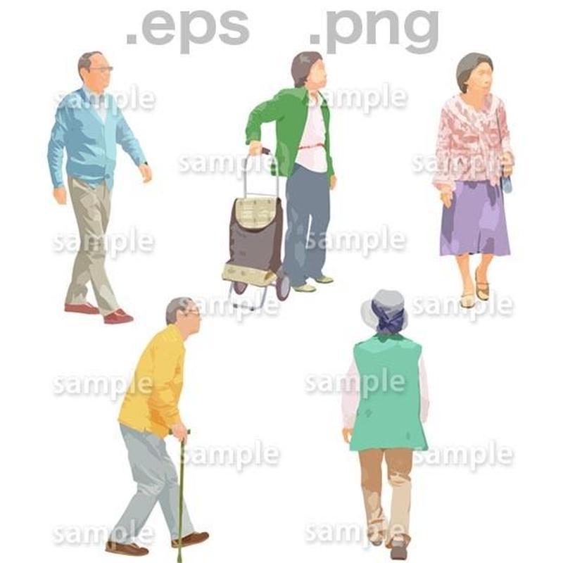 シニアイラスト (EPS , PNG )   se_138
