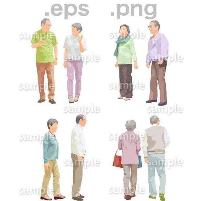 シニアイラスト (EPS , PNG )   se_113