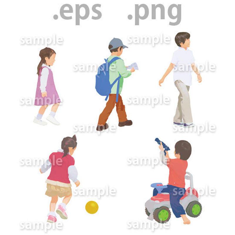 ファミリーイラスト (EPS , PNG )   fa_010