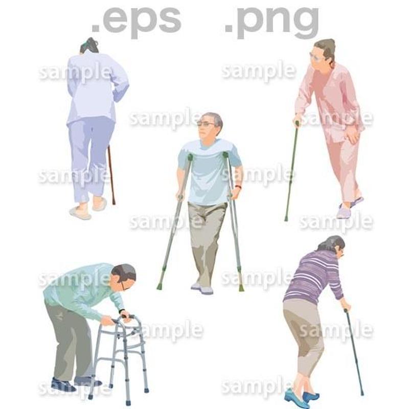 シニアイラスト (EPS , PNG )   se_244
