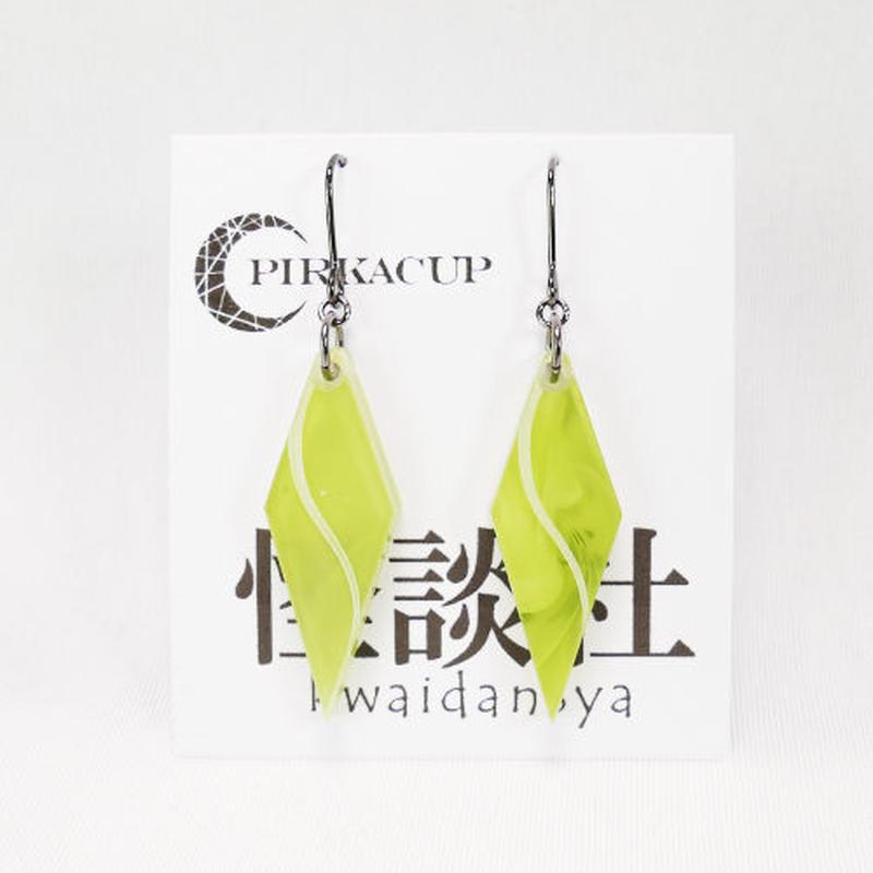 【PIRKACUP】コラボアクセ 怪談師イメージピアス(糸柳寿昭Ver.) グリーン IP-A02