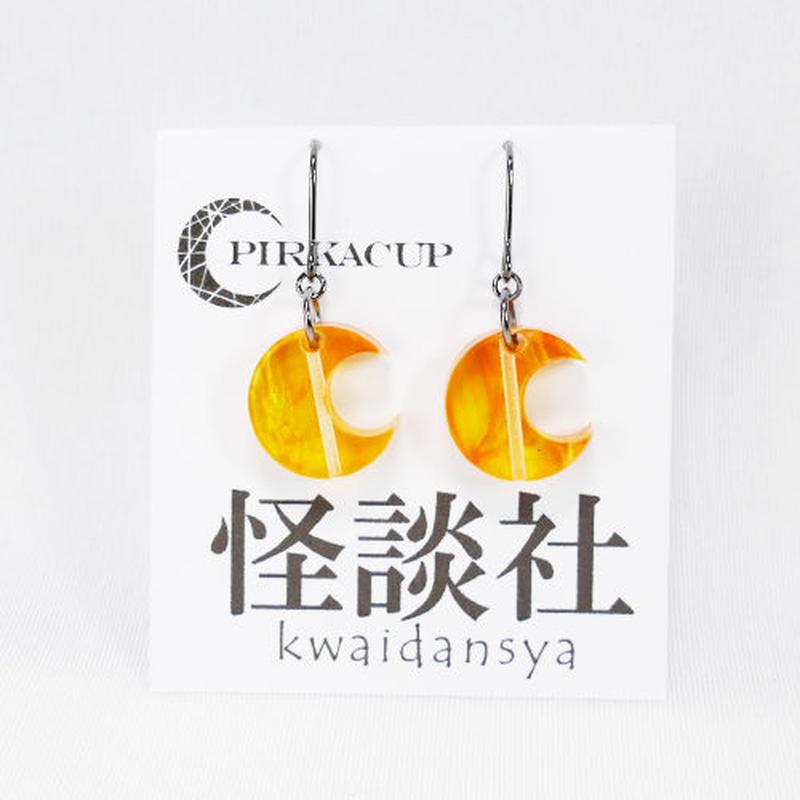 【PIRKACUP】コラボアクセ 怪談師イメージピアス(上間月貴Ver.) オレンジ IP-A04
