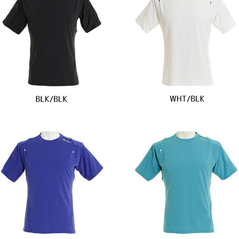 【トレーニング/Tシャツ】2XU/ツー・タイムズ・ユー/メンズ ストレッチニットS/Sクルートップ【MR6009A】