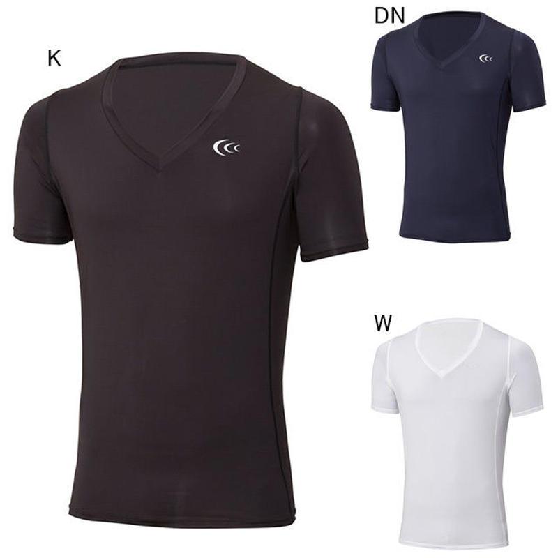【インナーシャツ】C3fit/シースリーフィット/クーリングVネックハーフスリーブ【3F08112】
