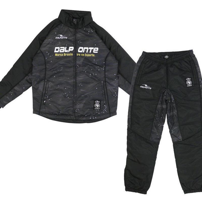 【dalponte/ウォーマー上下】 ダウポンチ/ブラジルスター中綿ウォーマースーツ(ブラック) 【DPZ0252-BLK】