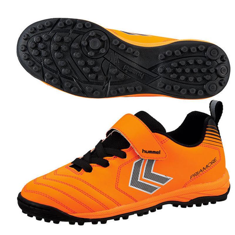 【サッカートレーニングシューズ】hummel/ヒゥンメル/プリアモーレV VTF Jr.(オレンジ×ブラック) 【HJS2124-3590】