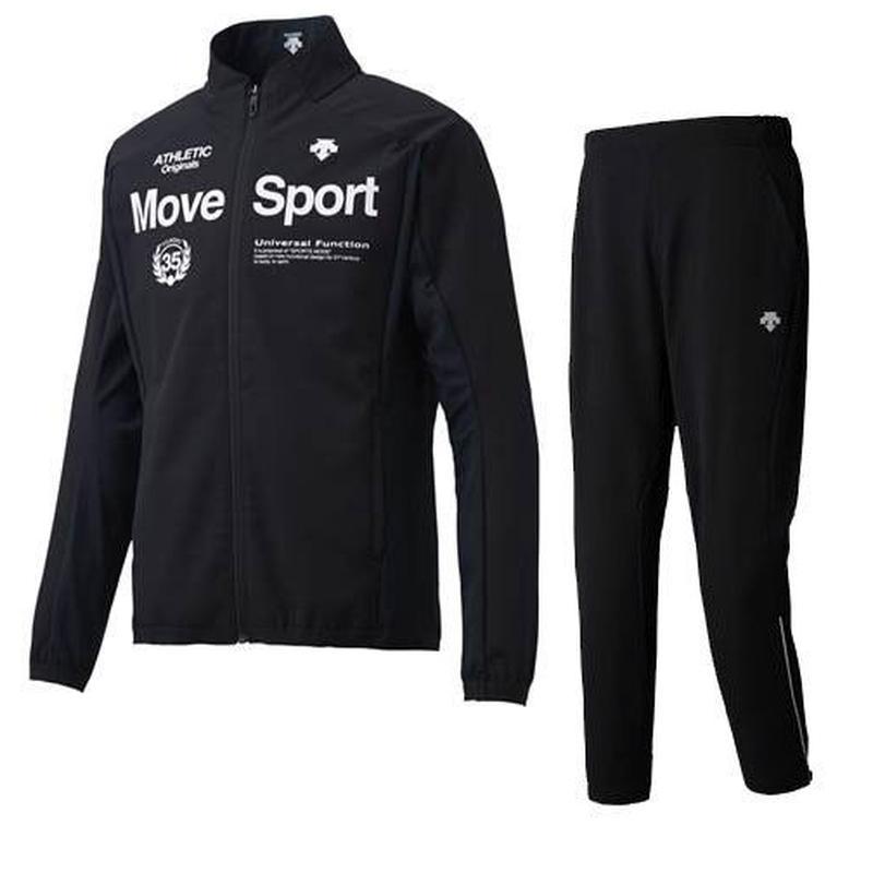 【DESCENTE/クロス上下セット】 デサント/Move Sport/グリッド クロスジャケット・ロングパンツ(ブラック) 【DMMMJF16-DMMMJG16-BK】