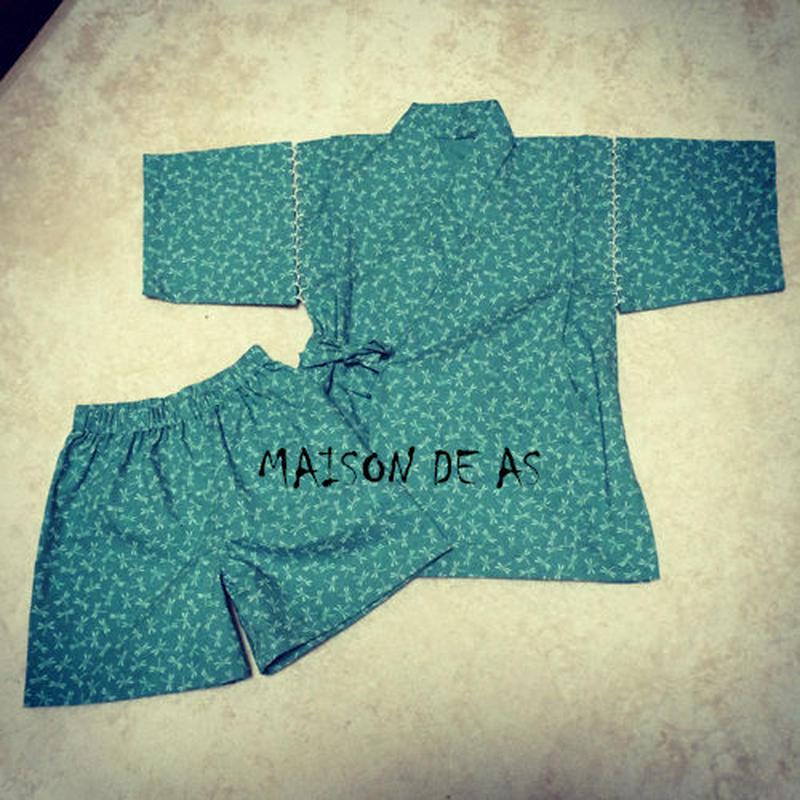 子供用甚平(男女兼用)♡サイズ110【型紙ダウンロード販売】