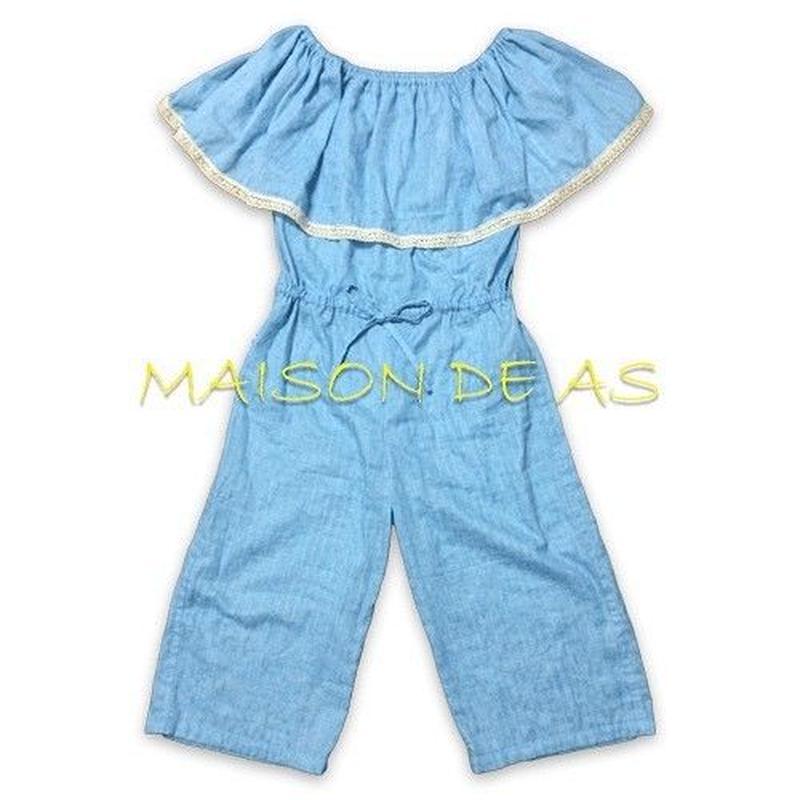 オフショルダージャンプスーツ(オールインワン)♡サイズM【型紙ダウンロード販売】