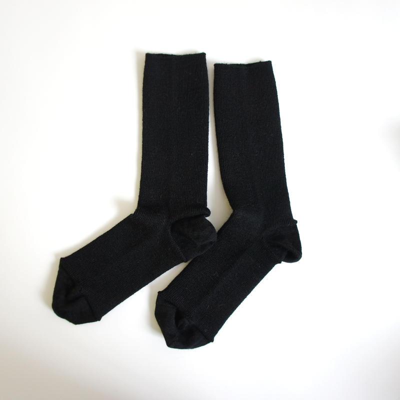 ゴムなししめつけない靴下/ ブラック_SO001-BK