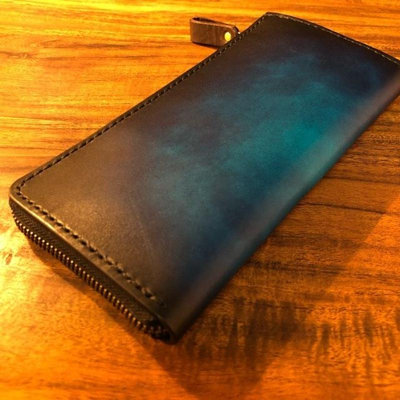 Leather Wallet Ⅱ / Cobalt blue