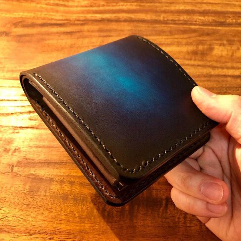 Leather Wallet Ⅴ / Cobalt blue