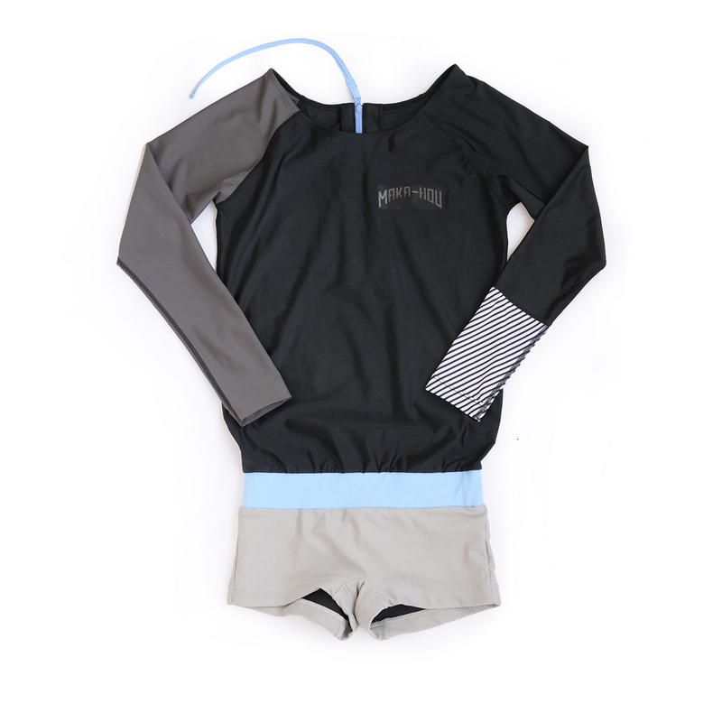 ラッシュパンツ1体型水着 【21W17-81S】MAKA-HOU Rash Guard with Hot Pants