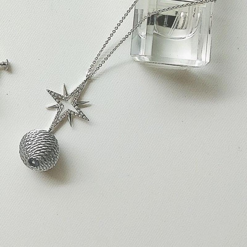 Moon•Star(シルバー)  ネックレス