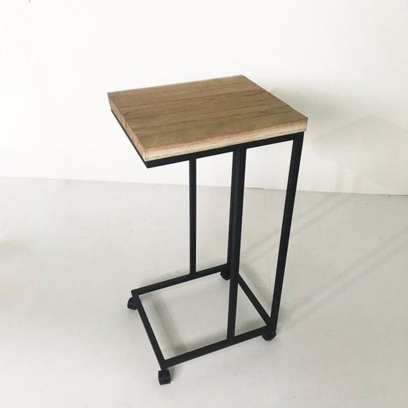 キャスター付きサイドテーブル(ナチュラルカラー)