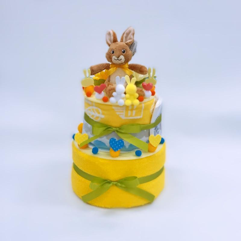 オリジナル おむつケーキ2段タイプ