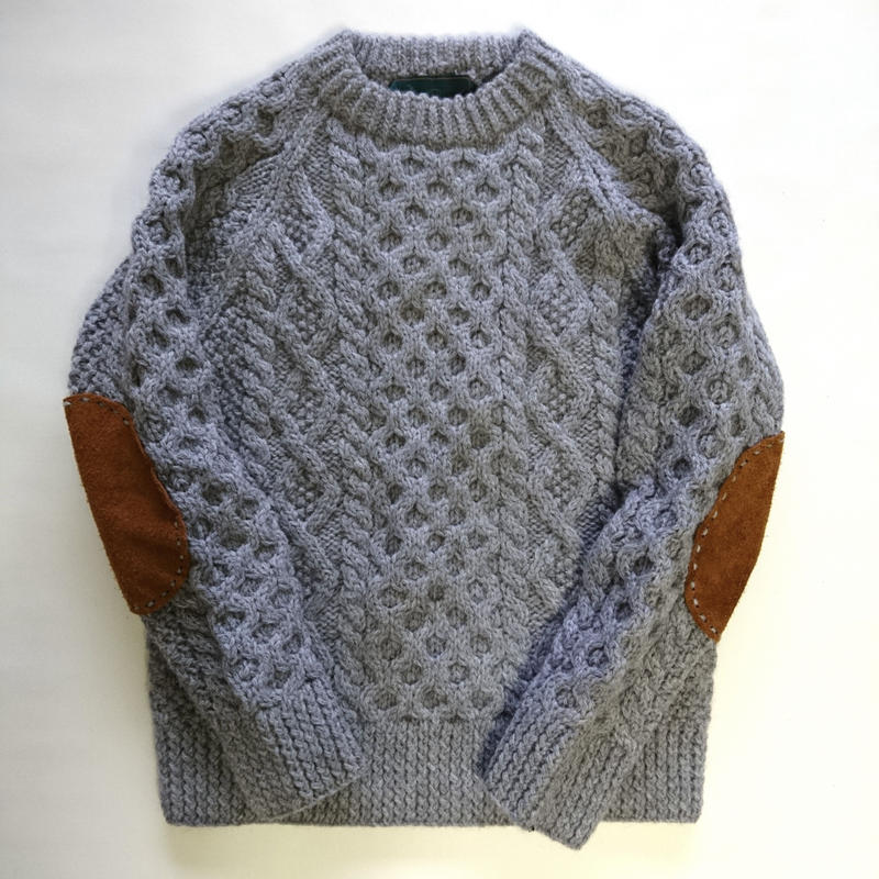 makufuri Hand Knit Fisherman<Snow Gray>