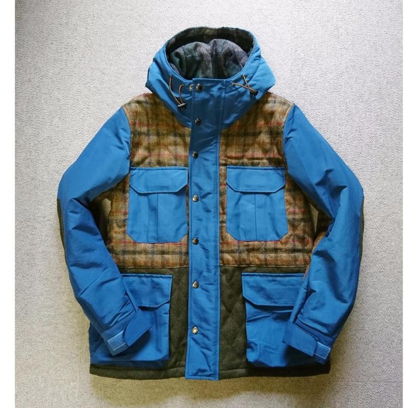 makufuri  Mix Tweed Mountain Parka 〈Blue〉