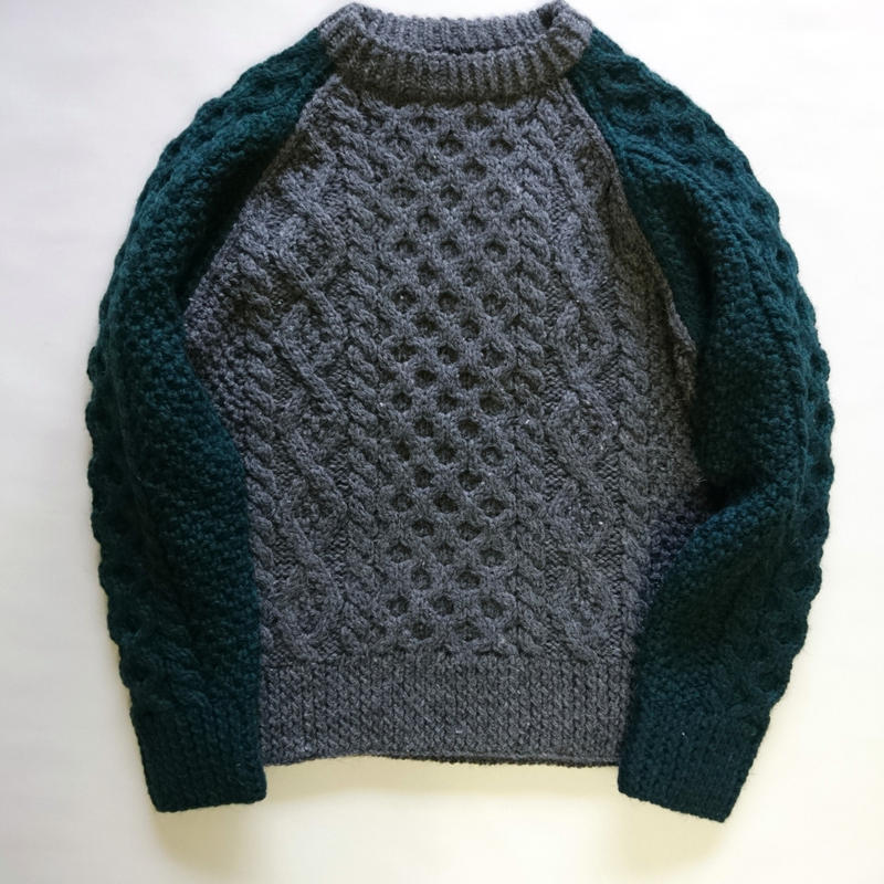 makufuri Hand Knit Fisherman<Ivy Green Mix>
