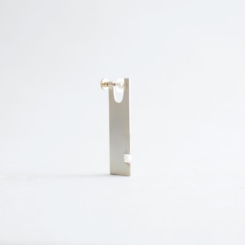 PLATE LONG pearl1  earrings